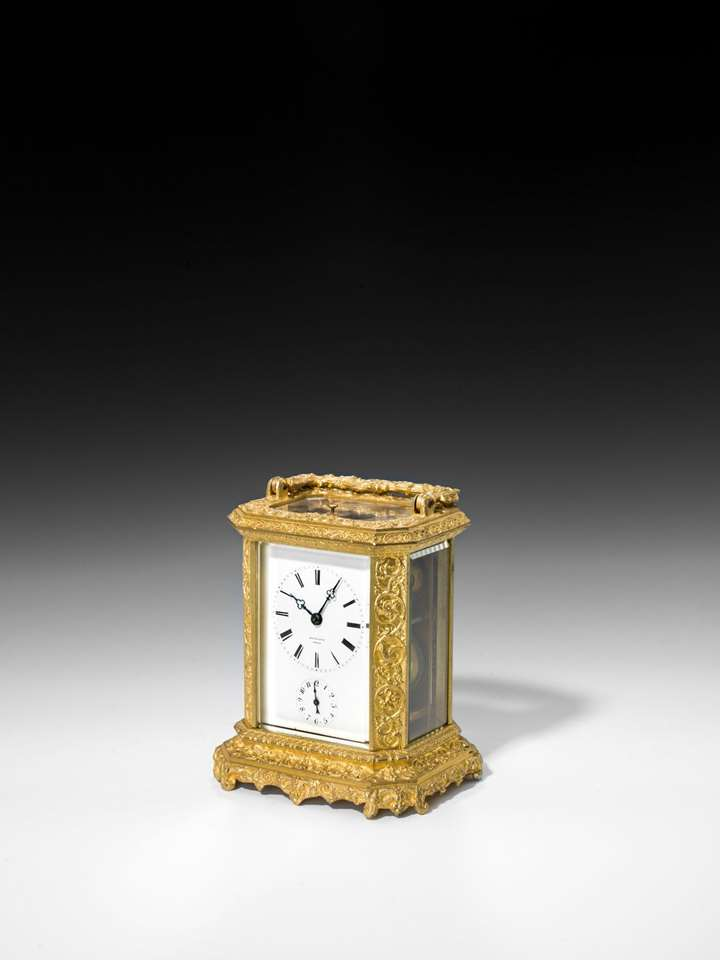 FRENCH CARRIAGE CLOCK WITH ALARM